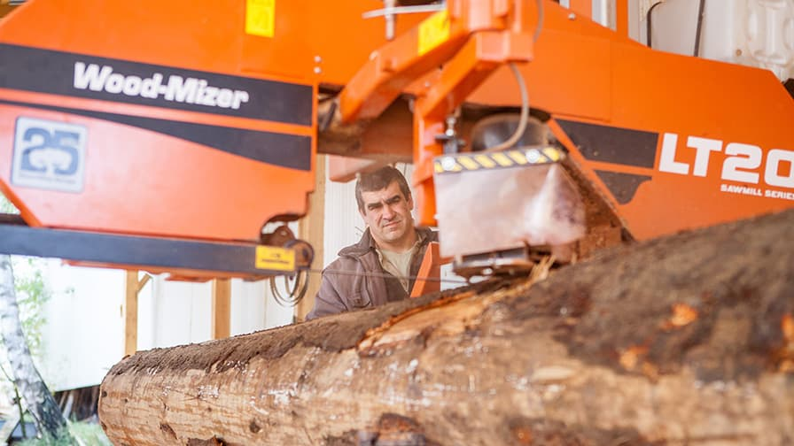 The sawmills cut boards with great precision