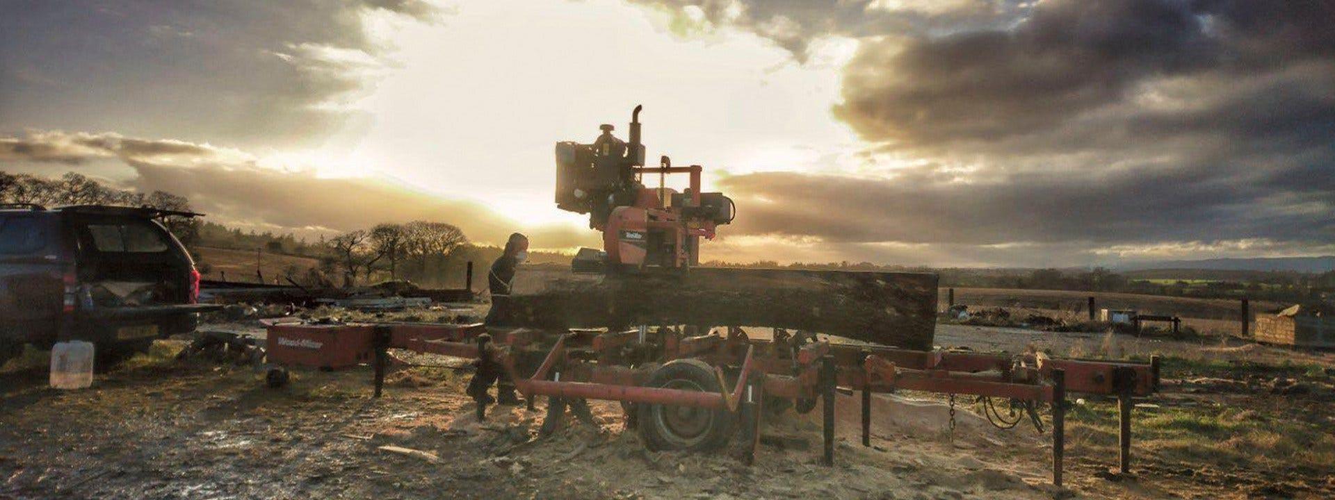Mobile Sawmilling in Scotland