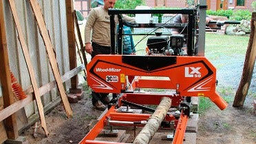 Kolja Raddatz and his father Kevin operate their LX50 sawmill