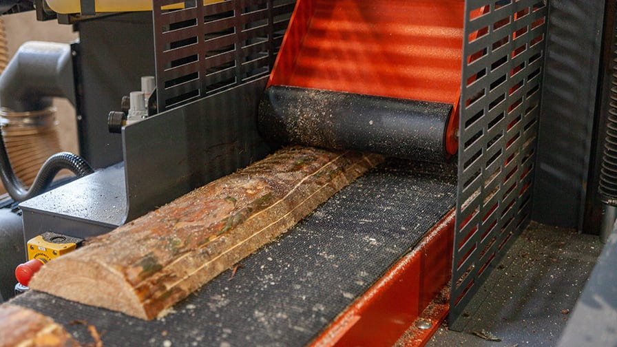The offcuts resaw at HR250 sawmill