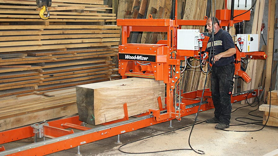Mr Bachert operates LT15 sawmill