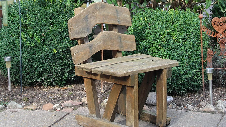 Ottfried's hobby is to make garden furniture from wood