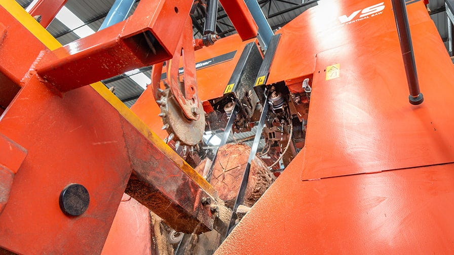 The Twin Vertical Saw provides the primary breakdown.