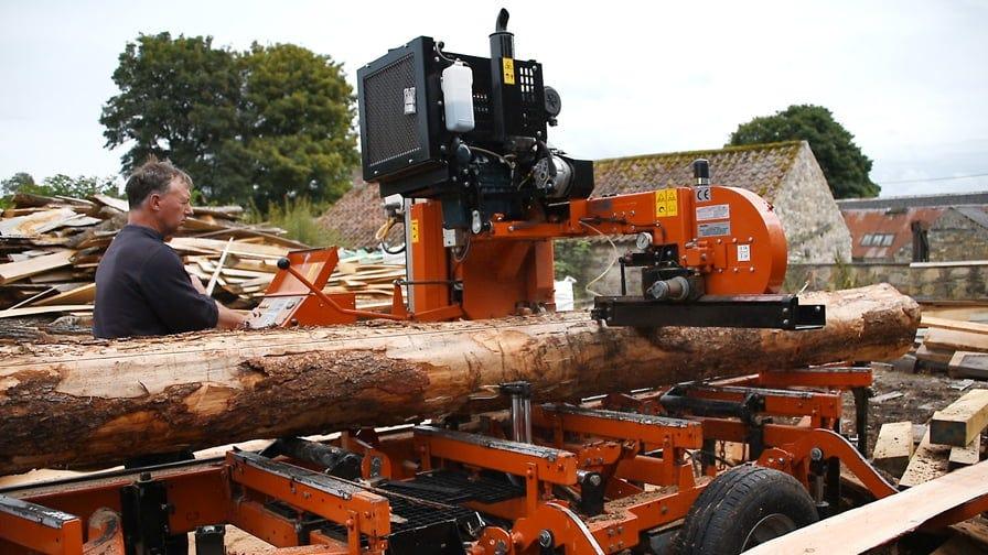 Wood-Mizer LT40 sawmill in Wales