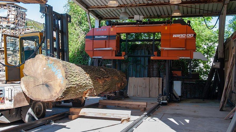 The WM1000 can cut massive logs