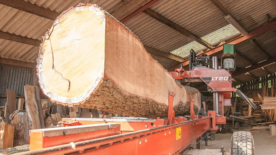 After several years Henry upgraded to LT20 mobile sawmill