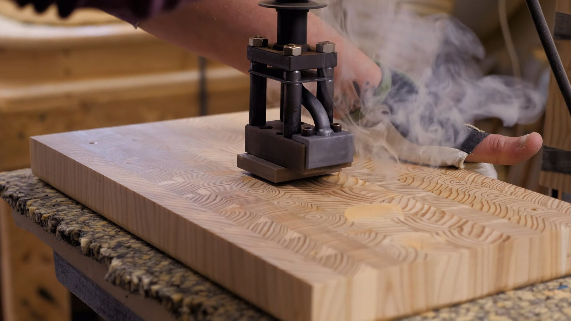 End grain cutting boards crafting steps