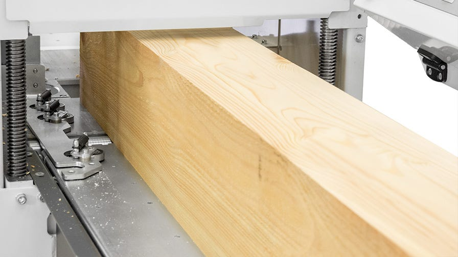 Large throughput of Wood-Mizer MP360 four sided planer moulder