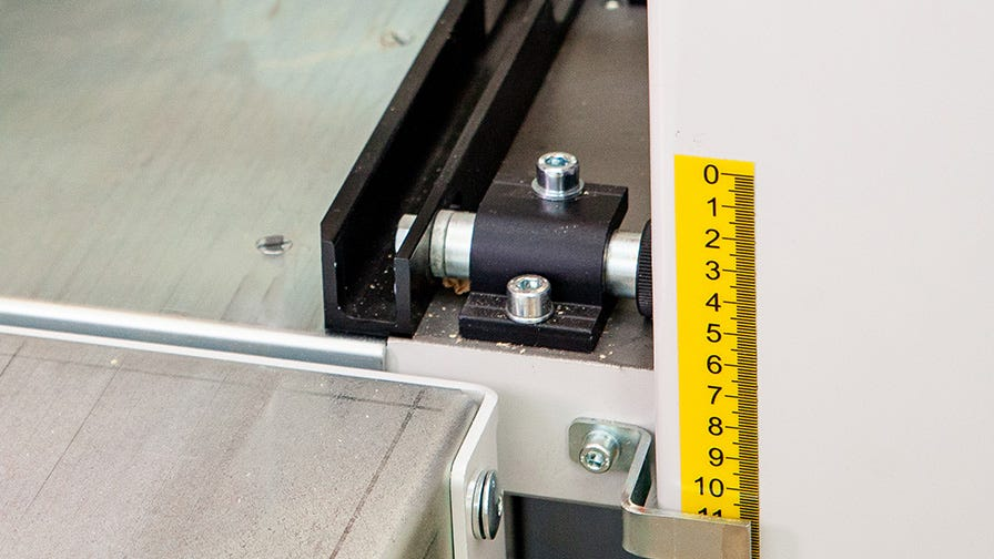 Wood-Mizer MP260 right cutter head adjustment fence