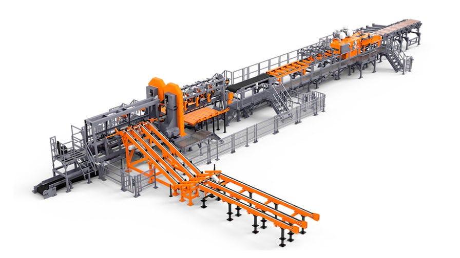TITAN sawmilling line example